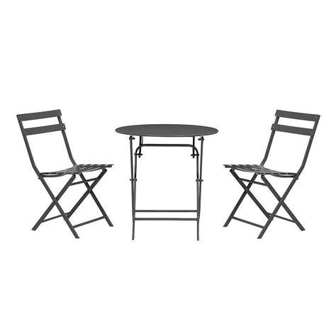 Home Decorators Collection Follie Black 3 Piece Outdoor Patio