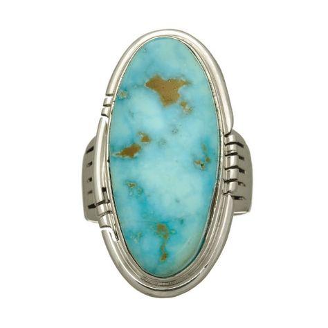 Bague Navajo , Turquoise Kingman sur argent. | Harpo Paris