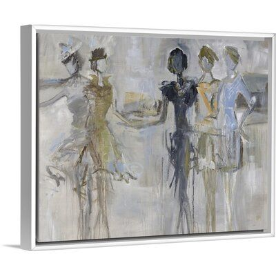 House Of Hampton Lending A Hand Painting On Canvas Size 25 7 H X 31 7 W X 1 75 D Format White Floater Frame Painting Art Wrapped Canvas