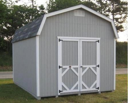 Classic Barn Wood Storage Shed Precut Kit Sizes 8 X 8 To 12 X 24 Diystorageshedplans Buildyourow Wood Storage Sheds Wooden Storage Sheds Diy Shed Plans