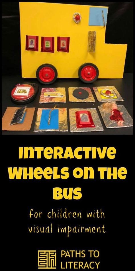 Interactive Wheels on the Bus is a great way to engage young children who are blind or visually impaired, as well as those with multiple disabilities. Visually Impaired Activities, Tactile Activities, Learning Activities, Health Activities, Children Activities, Kids Health, Children Health, Multiple Disabilities, Learning Disabilities