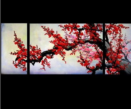 Tree Of Joy 01 Handpainted Art Painting 60in X 24in Cherry Blossom Painting Abstract Tree Painting Feng Shui Paintings