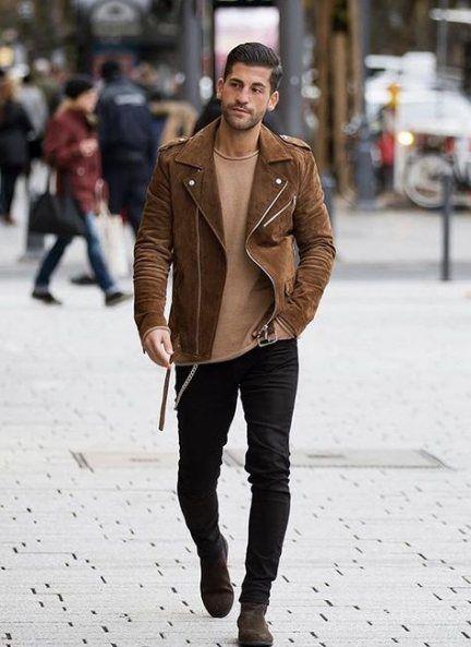 Dark brown boats outfit men street styles 19+ ideas