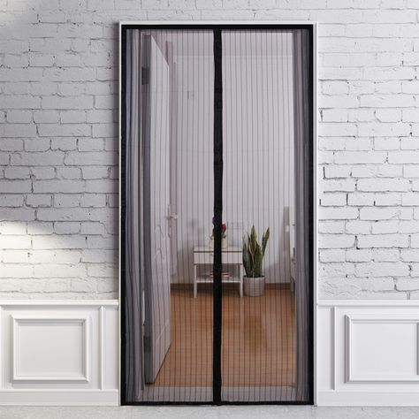 Magnetic Mesh Screen Door Portable Bug Mosquito Insect Screen
