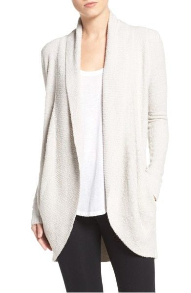 Main Image - Barefoot Dreams® CozyChic Lite® Circle Cardigan SILVER XS