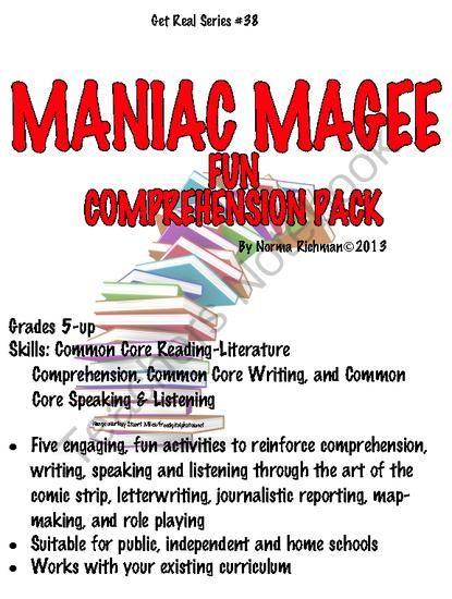 21 Maniac Magee Ideas Maniac Magee Magee Novel Studies