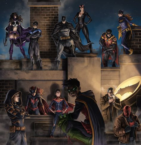 Imaginary Gotham - The art of Batman and his Universe. Batwoman, Nightwing, Batman Artwork, Batman Comic Art, Arte Dc Comics, Dc Comics Art, Comics Girls, Robin Dc, Batman Robin