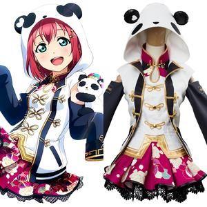 Love Live Sunshine Cosplay Costume Riko Sakurauchi Chinese dress cheongsam Skirt