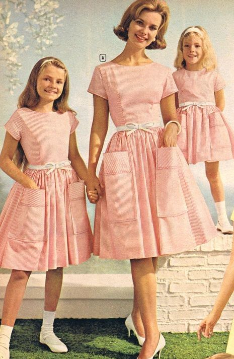 1970s Pink girl dress background.