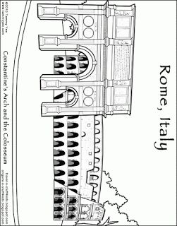 Rome Coloring Page Colosseum Rome Italy Ancient Rome