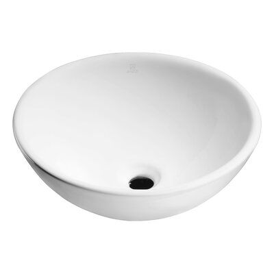 Anzzi Deux Series Vitreous China Circular Vessel Bathroom Sink Sink Vessel Sink Ceramic Sink