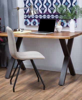 Moultan Acacia Desk Quick Ship Teak In 2019 Office