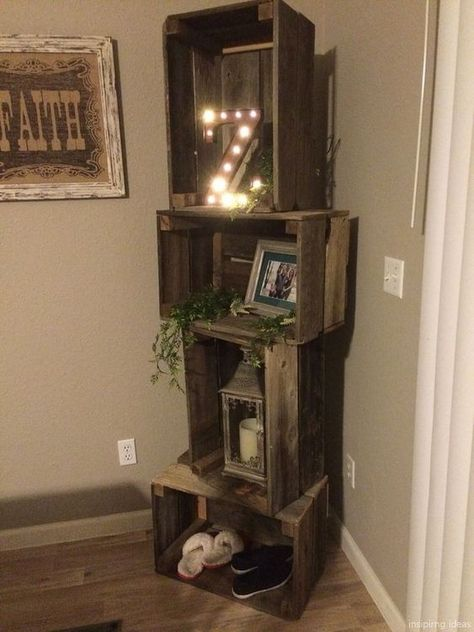 Cool 45 Cozy Modern Rustic Living Room Decor Ideas You Must Try. # - August 24 2019 at Decorating Ideas For The Home Bedroom, Diy Home Decor, Bedroom Ideas, Diy Bedroom, Diy Decorating, Bedroom Girls, Home Decor Country, Diy Decorations For Home, Living Room Decorations