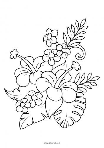 Flower Colouring Pages 14 Flower Pattern Design Prints Leaf Coloring Page Flower Coloring Pages