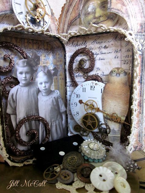 Feathers & Flight: Sweet Sisters  Altered tin...