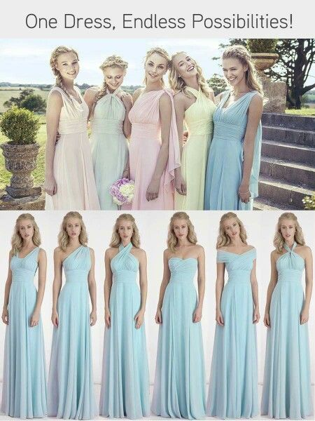 6 way convertible bridesmaid dresses. Mix and match multiway.