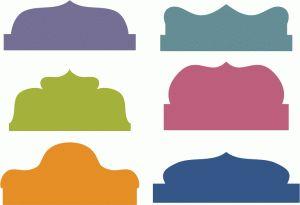 Silhouette Design Store - View Design #57074: artisan bracket tabs