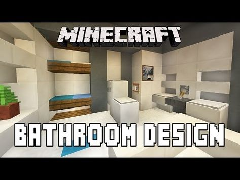 Bathroom Design Minecraft minecraft tutorial: how to build a modern house ep1 (layout and