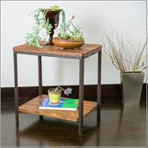 Adrian Metal End Table Rustic End Tables Metal End Tables Wood
