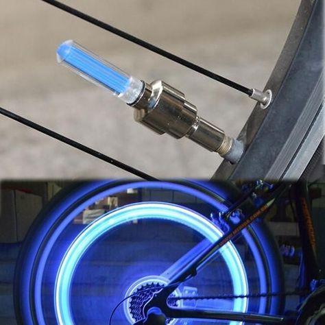 2Pcs LED Lamp Flash Tyre Wheel Valve Cap Light For Car Bicycle Bike Motorbicycle