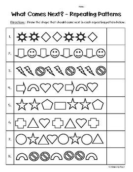 Repeating Patterns What Comes Next Worksheet With Images
