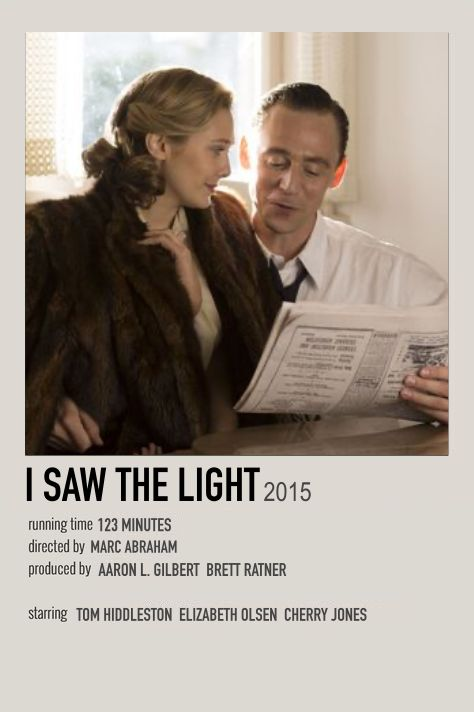 I Saw the Light minimalist poster
