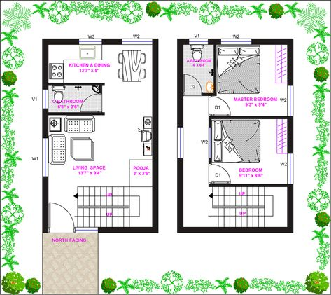 15ft 25ft North Facing Duplex House Plan In Tirupathi Andhra Pradesh Duplex House Plans My House Plans Free House Plans