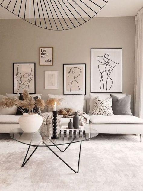 43 Creative Wall Art Design Idea for Living Room - Homiku.com