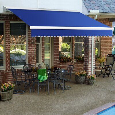 Awntech Destin Fabric Standard Patio Awning Retractable Awning Patio Outdoor Shade