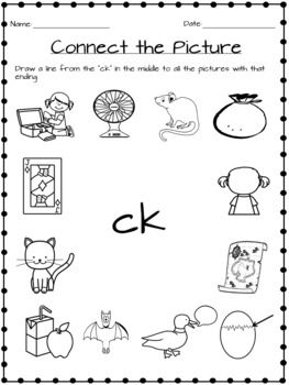 1 Page Of Ck Worksheets Fun With Phonics Pack Phonics Kindergarten Phonics Worksheets