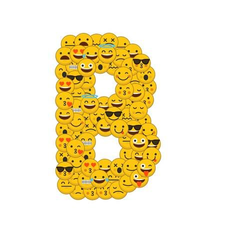 Buchstabe Letter B Smiley Emoji Emoji Wallpaper Emoji