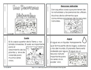 Actividades Sobre Los Recursos Naturales By Educative Teaching Ideas Positive Quotes Reading Activities Spanish Basics