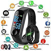 Shree Krishna Intelligence Bluetooth Health Wrist Smart Band Watch Monitor/Smart Bracelet/Health Bracelet/Smart Watch for Mens/Activity Tracker/Bracelet Watch for Men/Smart Fitness Band for All Android iOS Phone Tablet …