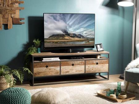 Meuble Tv Santa Ana 7 En Teck Recycle Meuble Haut De Gamme Lotusea Meuble Haut De Gamme Meuble Tv Meuble Haut
