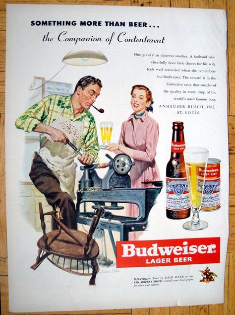 Original Print Ad Checker Board Vintage 1967 /'BUDWEISER/' Lager Beer ADVERT