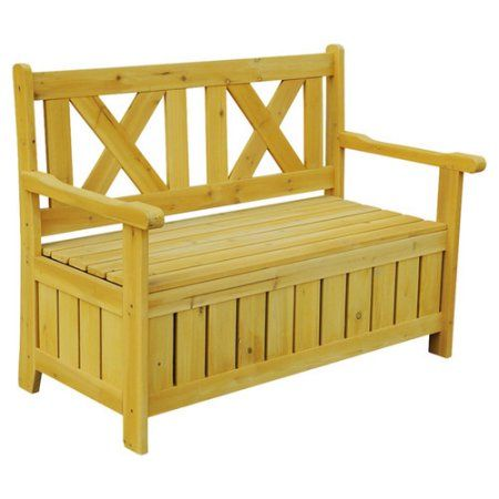 Patio Garden With Images Solid Wood Storage Outdoor Storage Bench Wood Storage Bench
