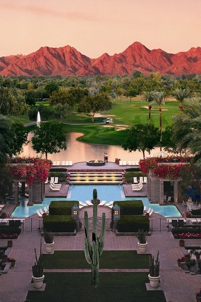 Scottsdale Arizona ~ It was beautiful, warm and I don't know that I have ever seen so many golf courses in one area.
