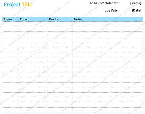 Project to do list (Basic Format) List Templates - Dotxes - project recap template