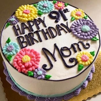 Pin By Stacie E On Baking Inspiration Cakes Birthday Cake For Mom Cake Writing Birthday Cake For Mum
