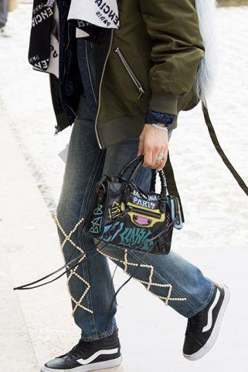 Graffiti Classic City Mini Leather bag | Looks