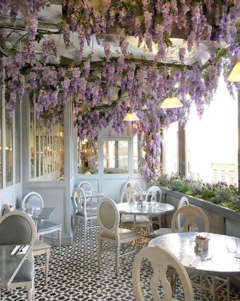 Authentic French Cuisine In Selfridges Aubaine Restaurant Selfridges London Flower Wall Selfridges