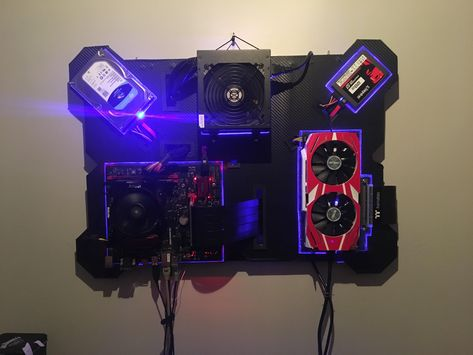 Made a wall mounted pc recently, any thoughts? : pcmasterrace