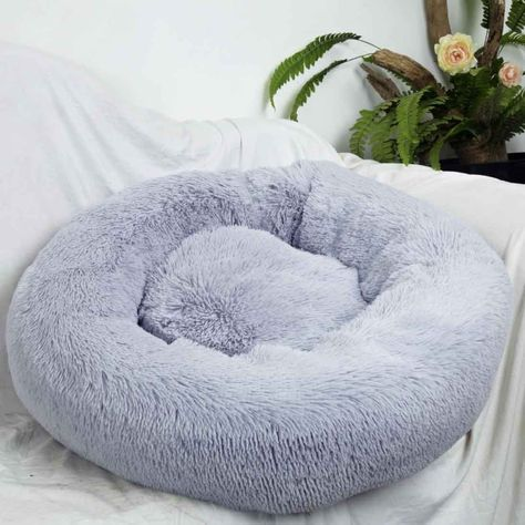 Pet Plush Bed Round Best Friend for Dogs and Cats Mosunx Dog Cat Calming Bed Soft Donut Cushion Bed Self-Warming and Improved Sleep