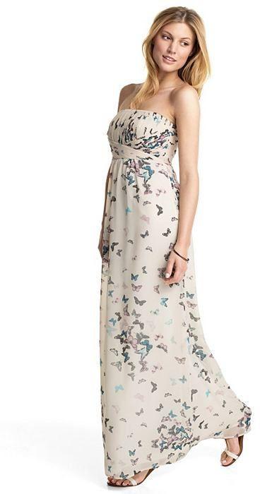 begrenzter Stil Geschicktes Design Online-Einzelhändler ESPRIT COLLECTION Schmetterlings-Print Chiffon-Empire-Kleid ...