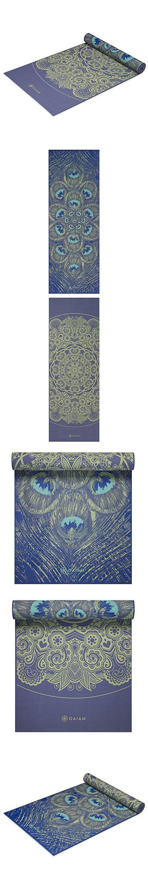 Gaiam Premium Print Reversible Yoga Mat Peacock Lace 5 6mm Premium Print Yoga Mat Gaiam