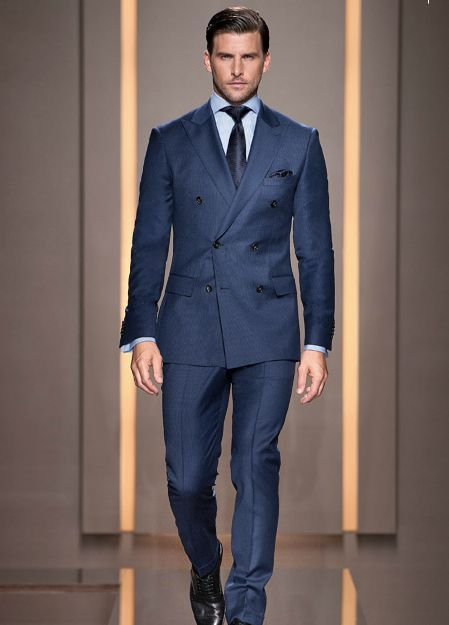 d6a48c3778b8 Traje azul boss   MEN'S STYLE   Hombres bien vestidos, Traje cruzado ...