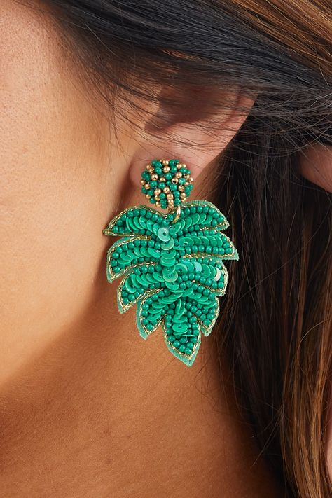 Tropi-cool earrings funky tropical island palm coconut