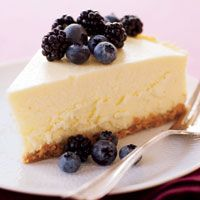 Healthy Cheesecake, cuts nearly 200 calories, 21 grams of fat, and 141 milligrams of cholesterol, simply by using low-fat and fat-free dairy products and streamlining the crust.