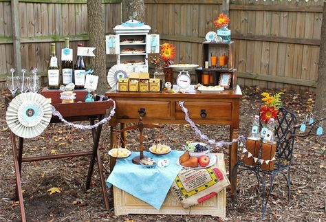 Great idea for a garden picnic setting