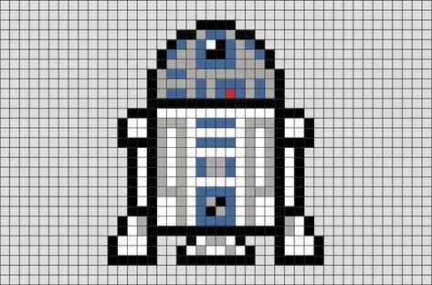 Star Wars R2 D2 Pixel Art Pixel Art Dessin Pixel Et Dessin